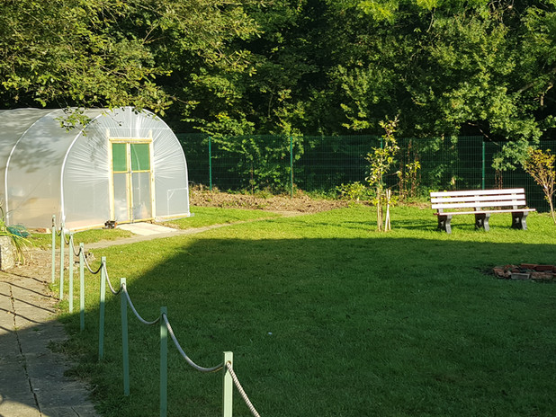 The CANTO grounds with our polytunnel used for horticulture.