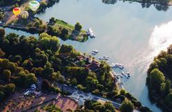 port de plaisance, vue aérienne