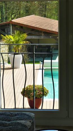 la terrasse vue du salon