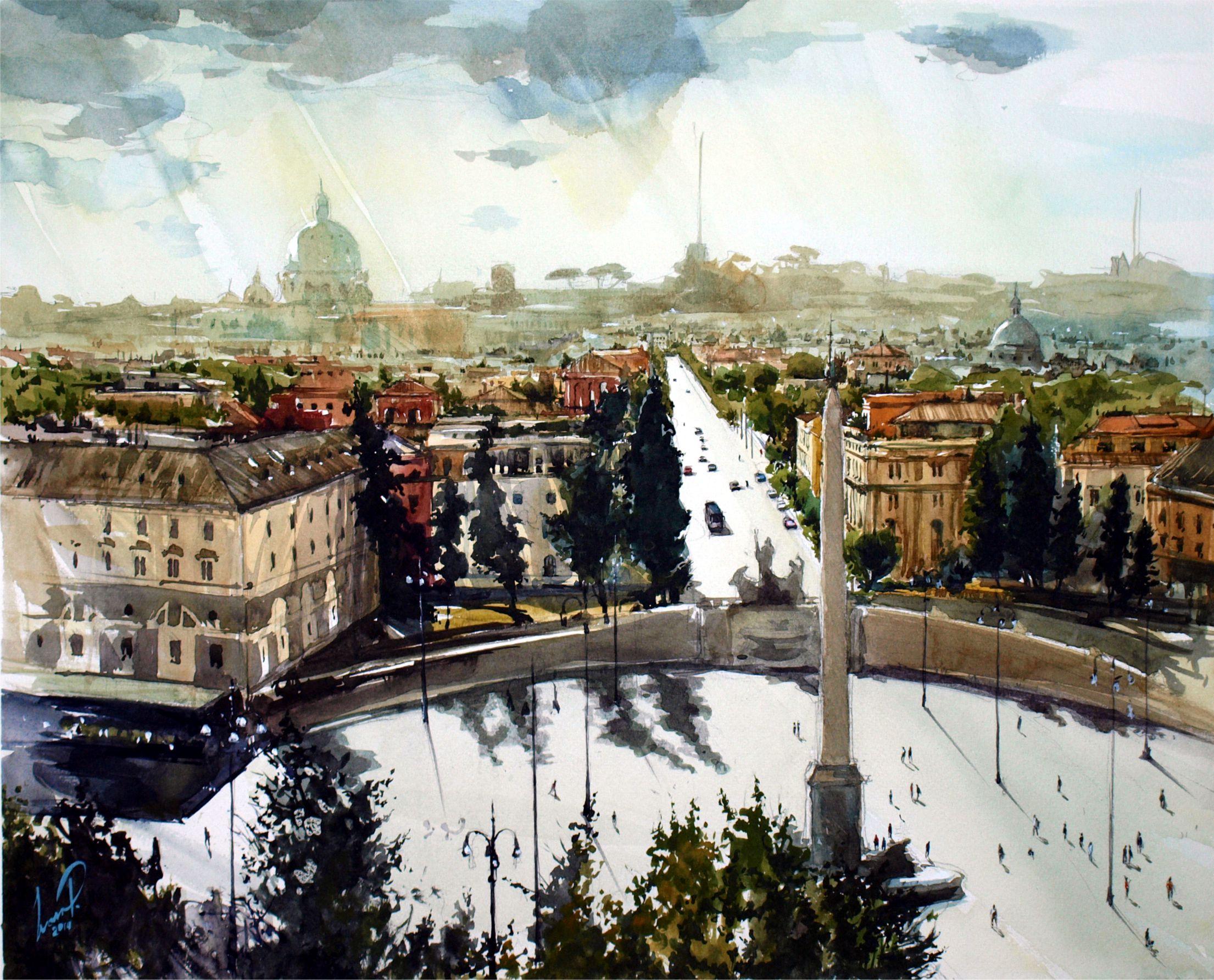 Piazza del Popolo/Народная площадь