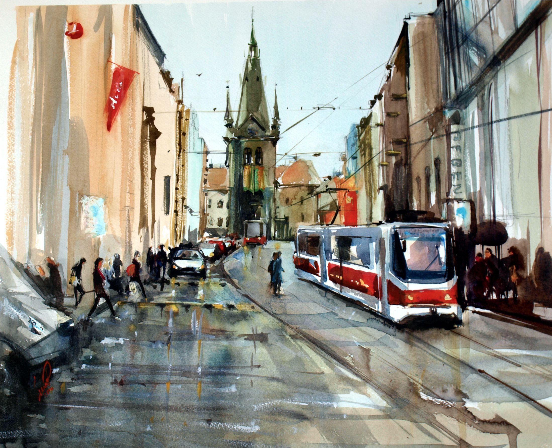 Red tram/Трамвай