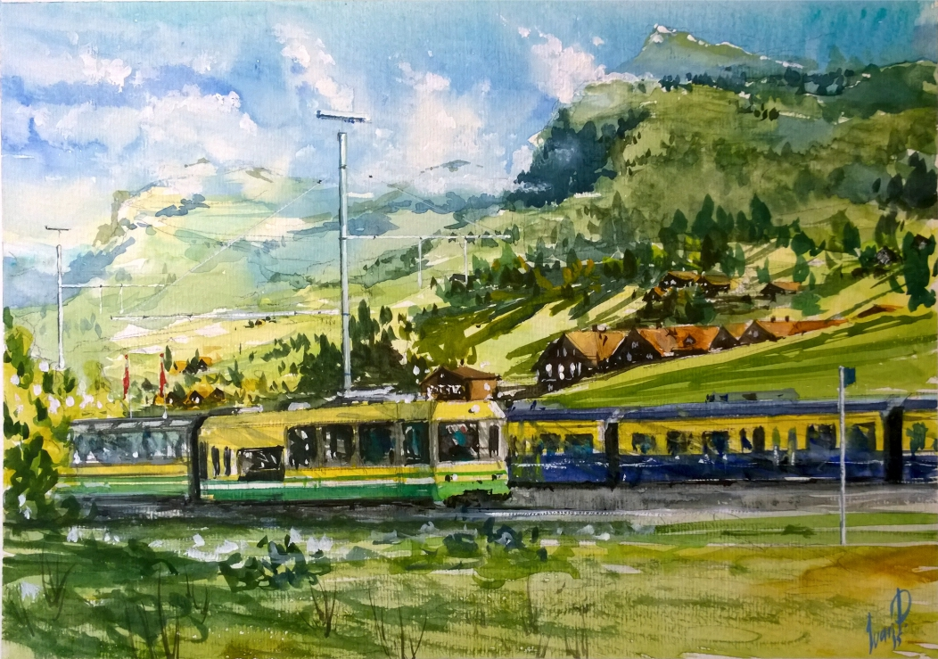 Alpina train. Etude.