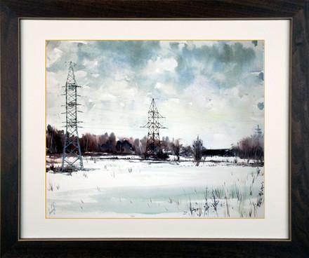 Winter landscape. Зимний пейзаж.