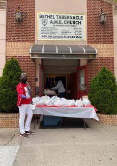 Distributing Free Food