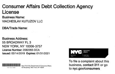 Viacheslav Kutuzov LLC Debt Collection Agency