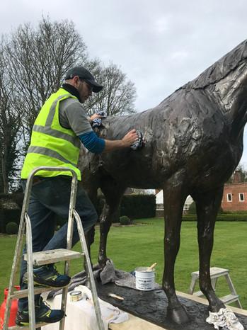 Restoration in progress Banstead Manor