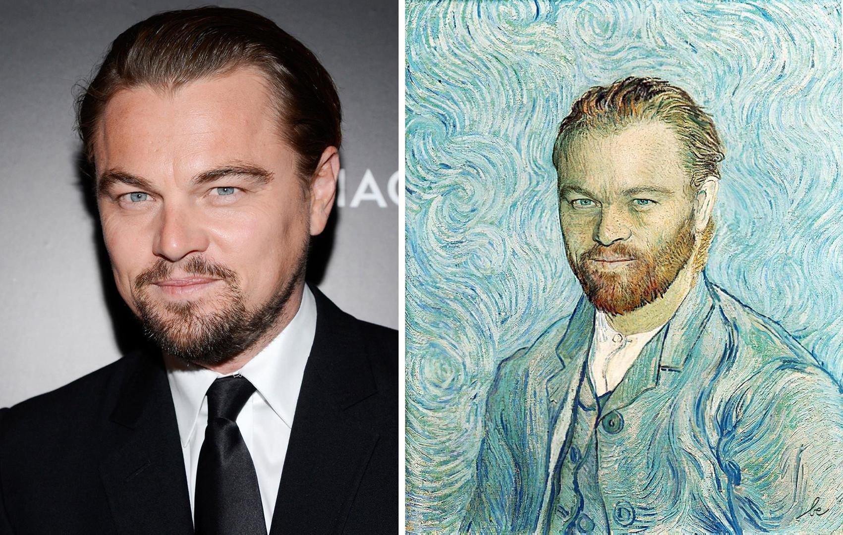 Leonardo Dicaprio VS Autoportrait, de Van Gogh