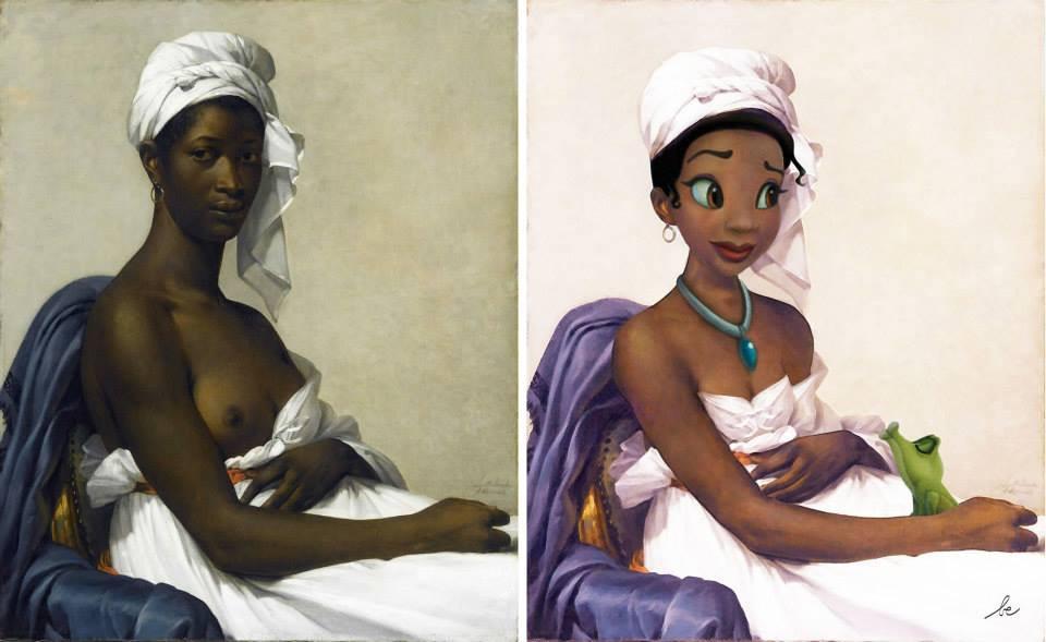 La Princesse et la Grenouille VS Portrait d'une femme noire, de Benoist