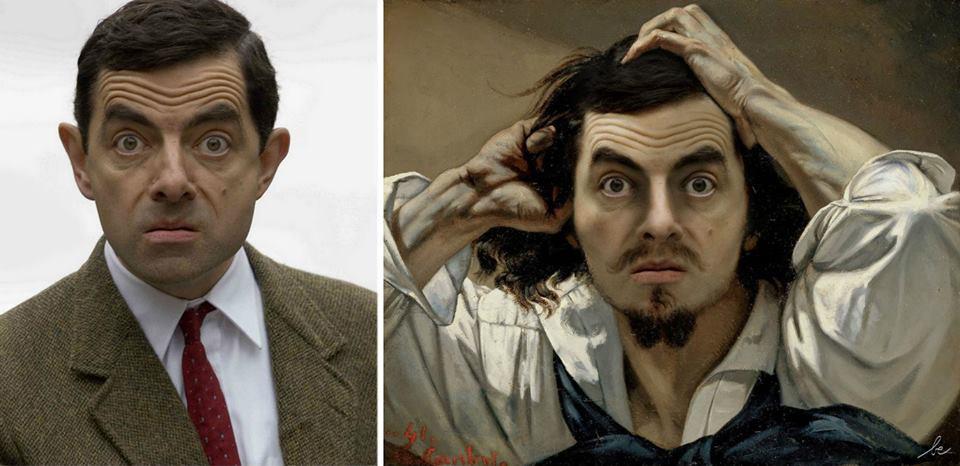 Rowan Atkinson VS Le Désespéré, de Gustave Courbet