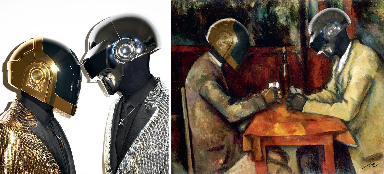 Les Daft Punk VS Les Joueurs de cartes, de Cézanne