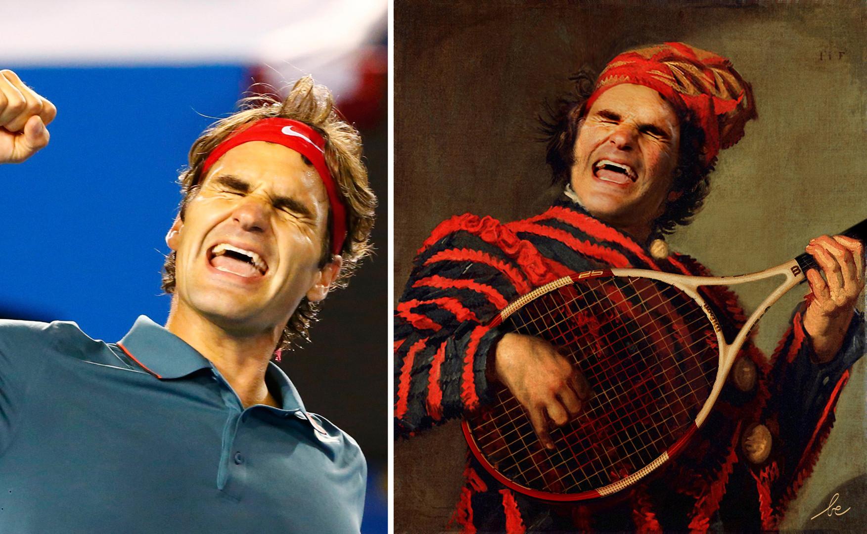 Roger Federer VS Le joueur de Luth, de Hals