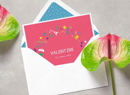 Le faire-part de naissance de Valentine
