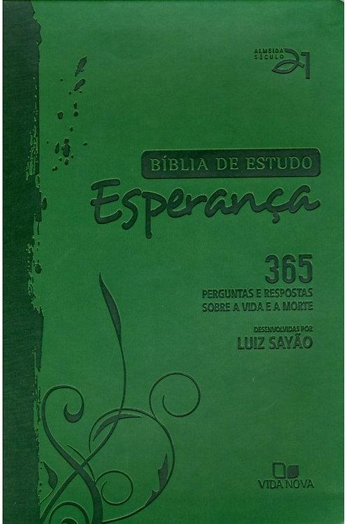 Bíblia de Estudo Esperança - Verde