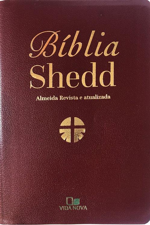 Bíblia Shedd Couro Bonded - Bordô