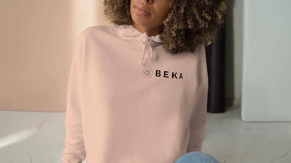 Ladies Crop Hoodie w/ BEKA Logo (peach)