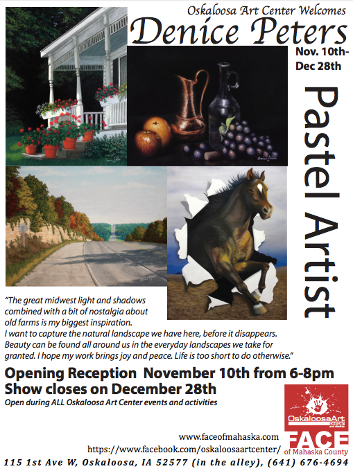 Denice Peters: Pastel Artist Nov 10th - Dec 28th