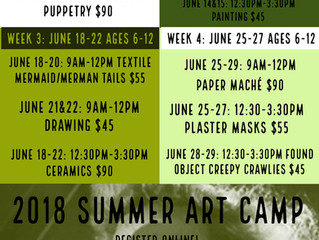 Youth Summer Art Camp 2018 :: Bigger & Better than ever!