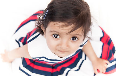 Child photography at home