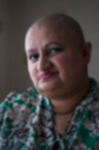 Cancer sufferer portrait