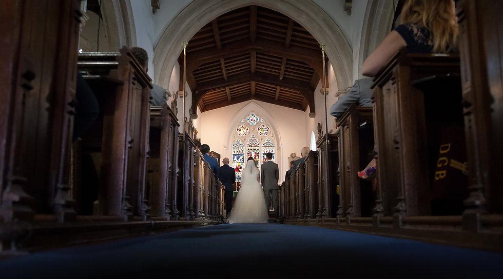 Church wedding in Denham