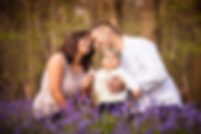 Family photography in the local bluebell woods