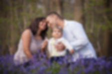 Family lifestyle photographs in bluebells