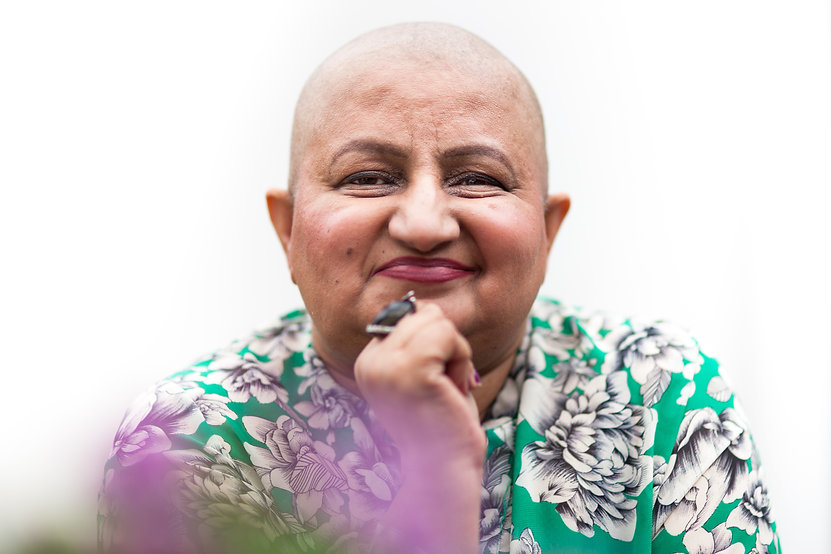 Cancer patient portrait
