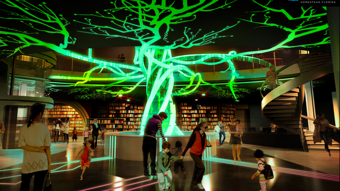 Here's what happens when a theme park company designs a library