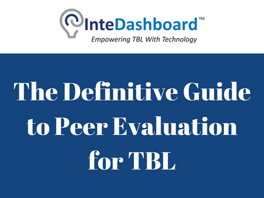 Peer Evaluation In Team-Based Learning: The Definitive Guide