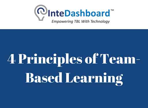 The 4 Principles Of Team-Based Learning