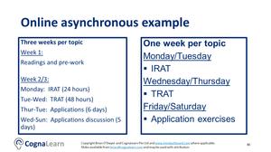 Online Aynchronous Team-Based Learning