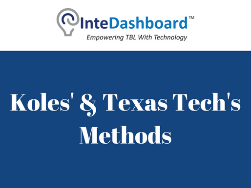 Peer Evaluation: Koles' & Texas Tech's Methods