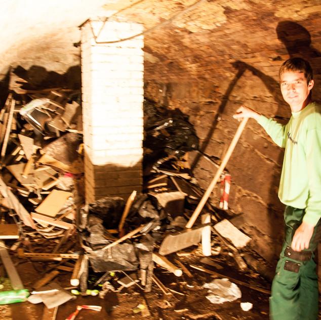 So sah es in den Kellerräumen aus