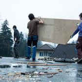 Das Haus wird vor dem Umbau geräumt