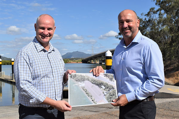 MP Glenn Butcher and Acting CEO Craig Walker with plans