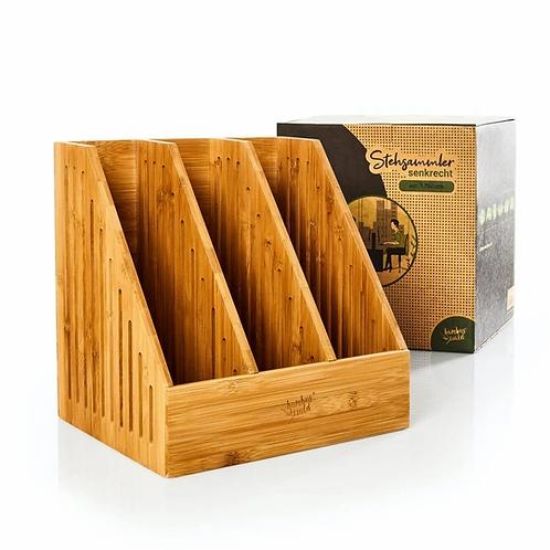 Stehsammler für Zeitschriften / Dokumente aus 100% Bambus