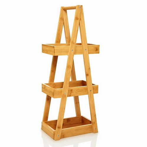 Badregal für die Dusche mit 3 Etagen aus widerstandsfähigem Bambus