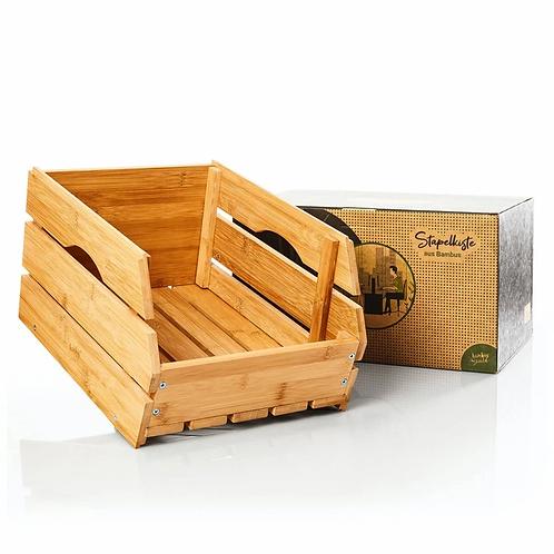 Stapelkiste / Gemüsekiste aus 100% Bambus für Lagerung
