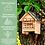 Thumbnail: Ökologisches Bienenhotel aus Naturholz mit vielen Schlafkammern