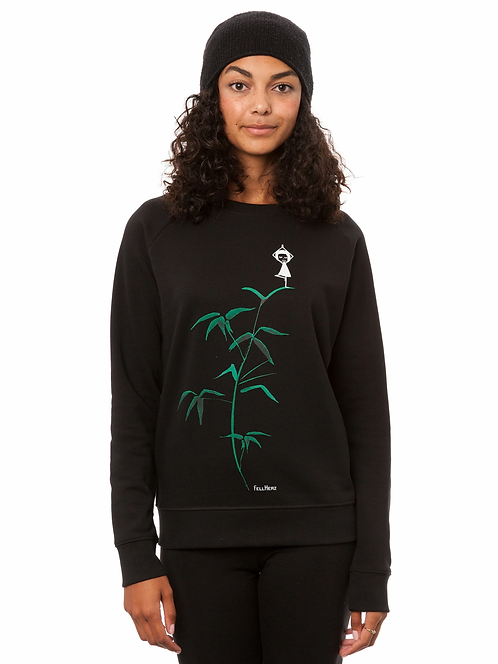 Sweater Yogamädchen black