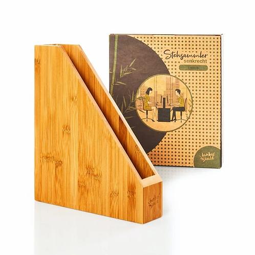Stehsammler für Dokumente / Zeitschriften aus 100% Bambus
