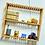 Thumbnail: Kleines Regal für die Wand oder zum Aufstellen aus Bambus