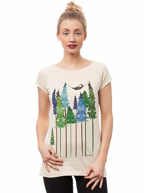T-Shirt Wood Girl natur