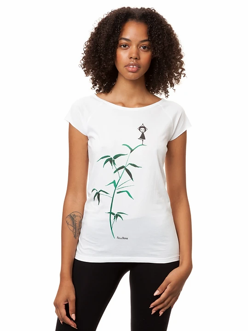 T-Shirt Yogamädchen white