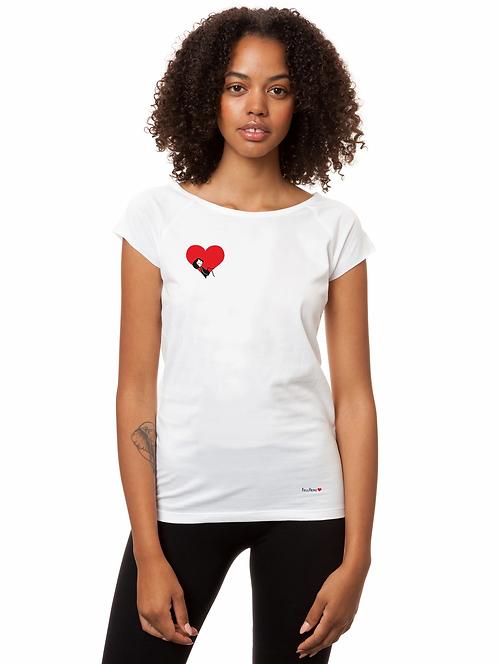 T-Shirt Valentine Girl white