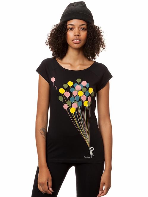 T-Shirt Balloons Girl black