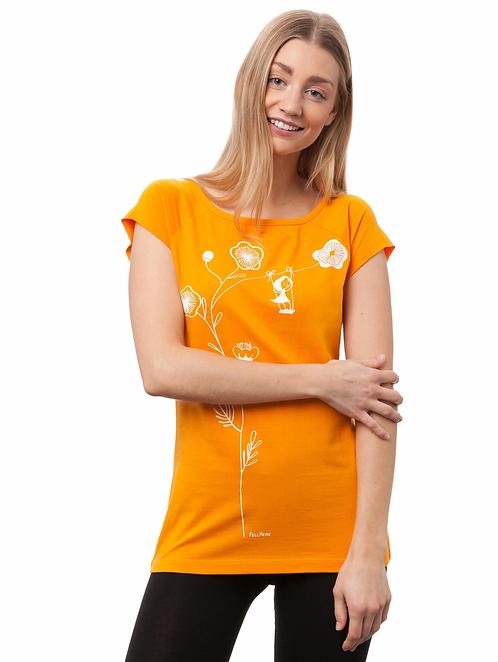 T-Shirt Schaukelmädchen sunset