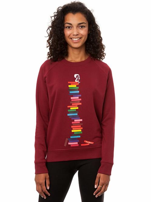 Sweater Books Girl burgundy