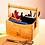 Thumbnail: Umweltfreundlicher Schreibtischorganizer mit 4 Fächern und Tragegriff aus Bambus