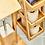 Thumbnail: Badregal für die Dusche mit 3 Etagen aus widerstandsfähigem Bambus